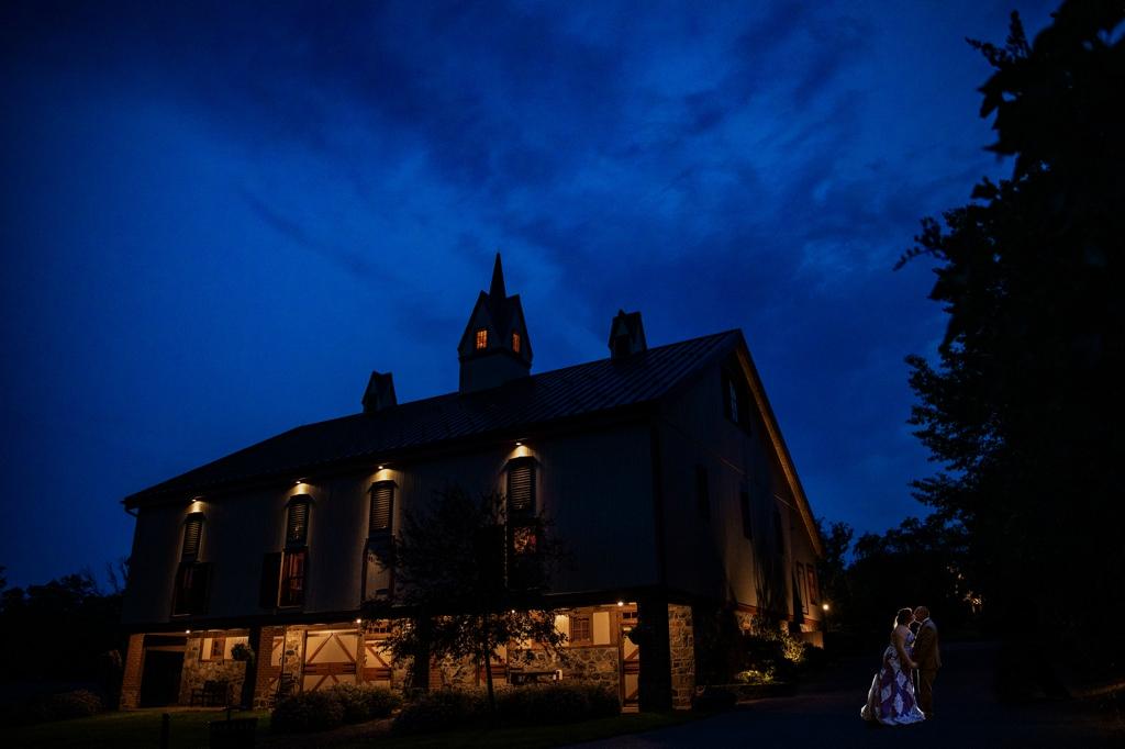 awesome night photo at ironstone ranch wedding