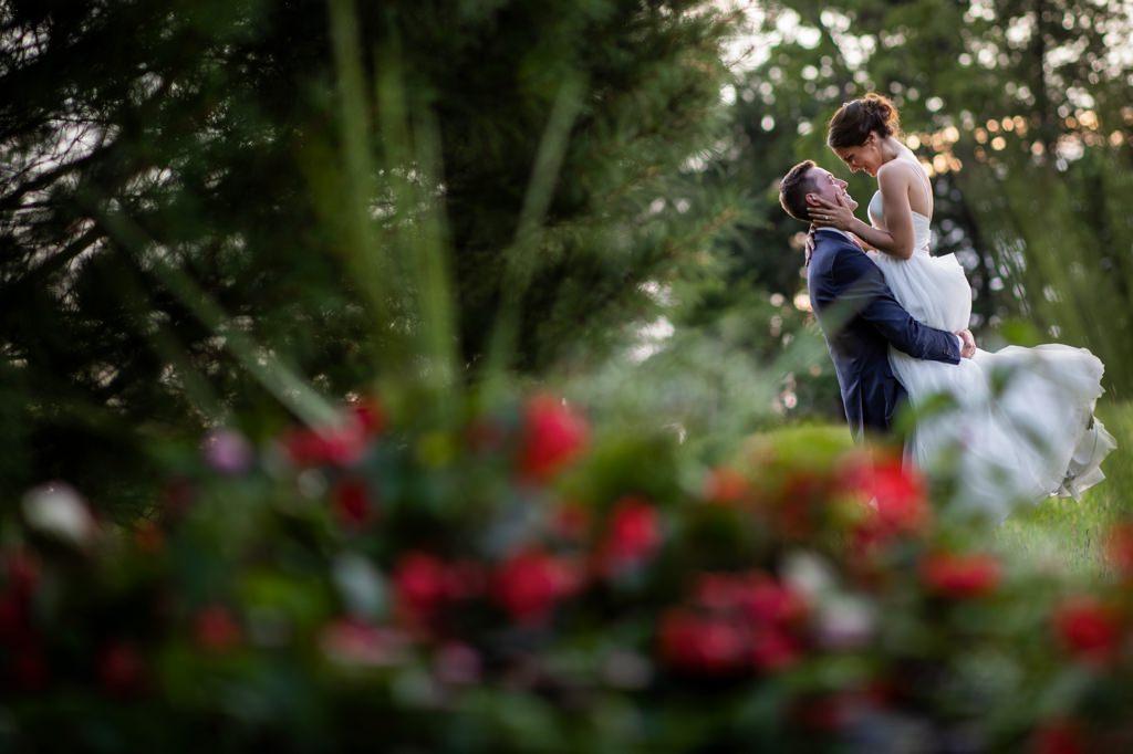 bride and groom enjoying their wedding at ironstone ranch