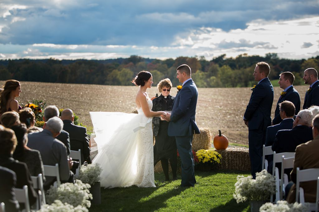 fall wedding harvest view barn