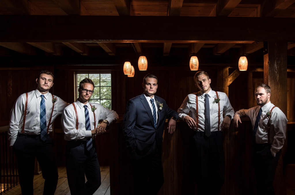 groom groomsmen wedding-at-harvest view barn at hershey farms