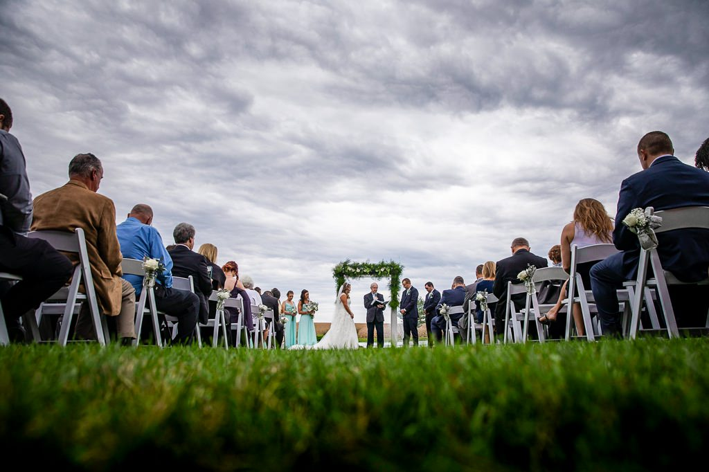 summer wedding ceremony harvest view barn