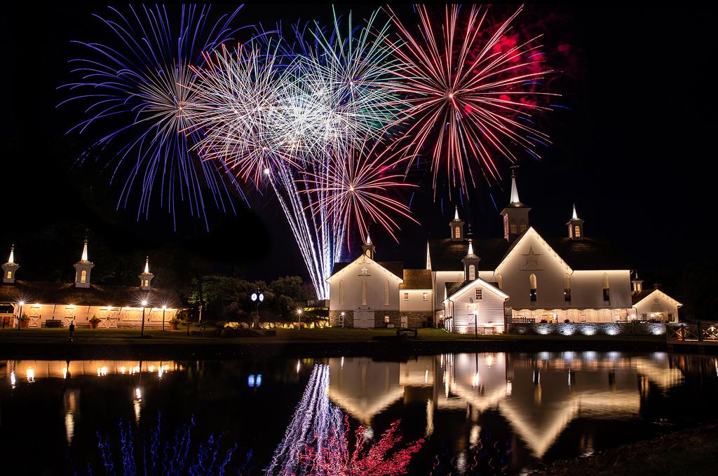 fireworks-over-the-star-barn-village-wedding