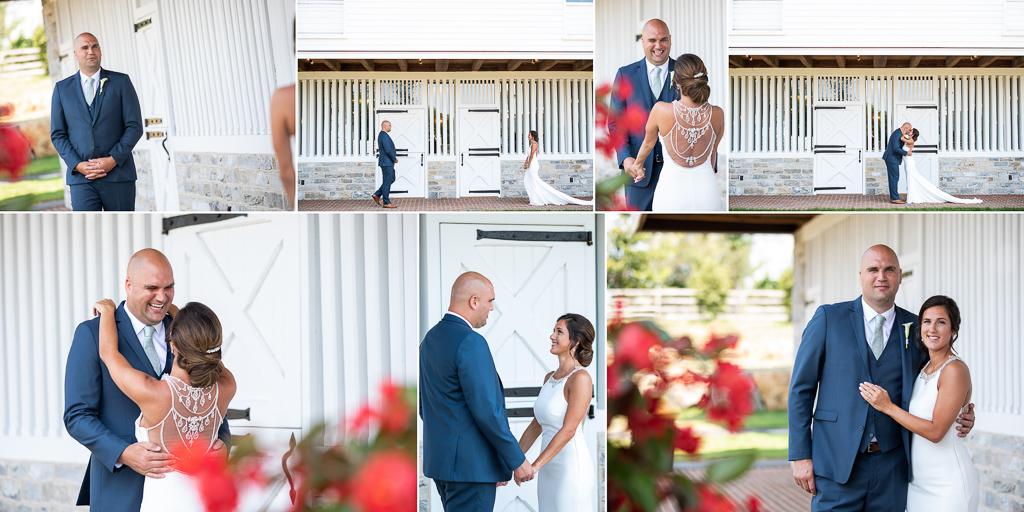 first-look-star-barn-wedding-photo