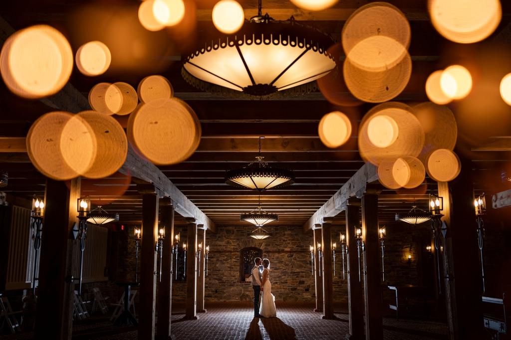 night photo at the star barn