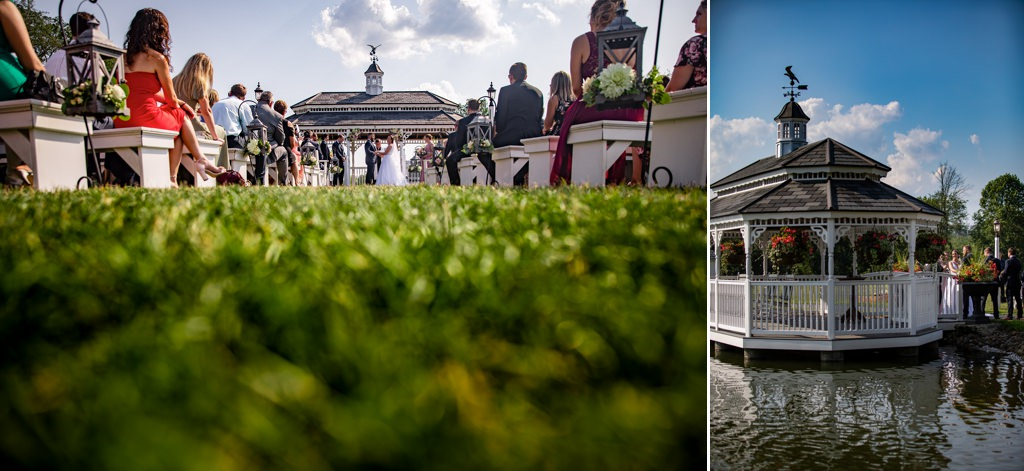 the star barn outdoor wedding ceremony
