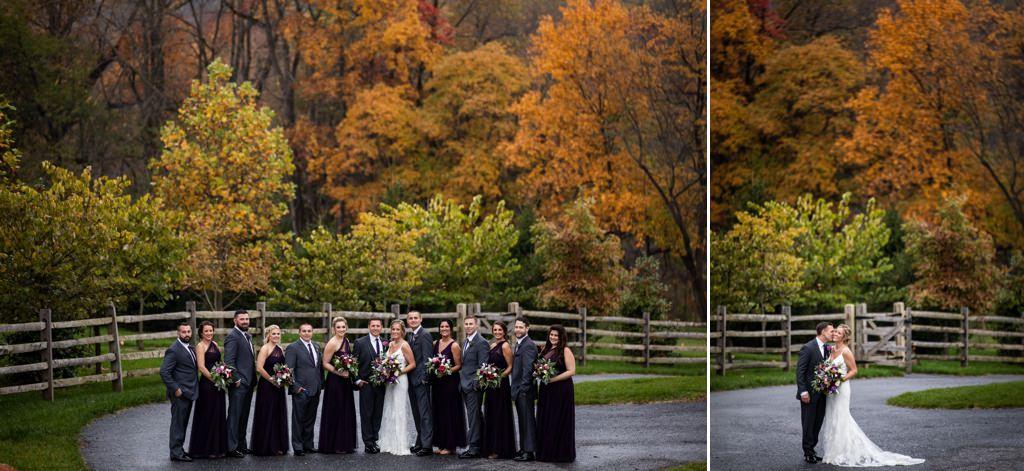 fall wedding at the start barn
