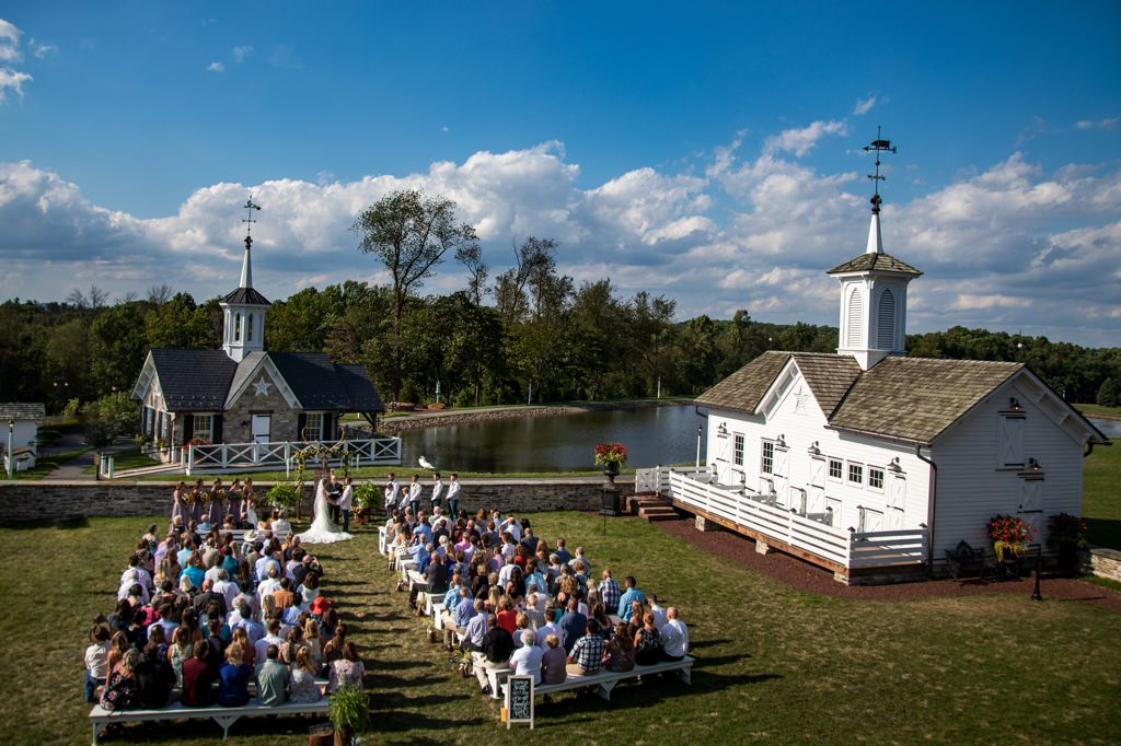 ceremony site at the start barn wedding