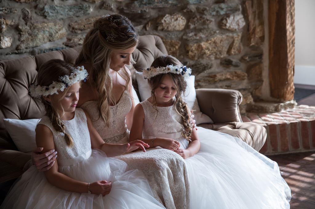 bride flower girls wyndridge farm