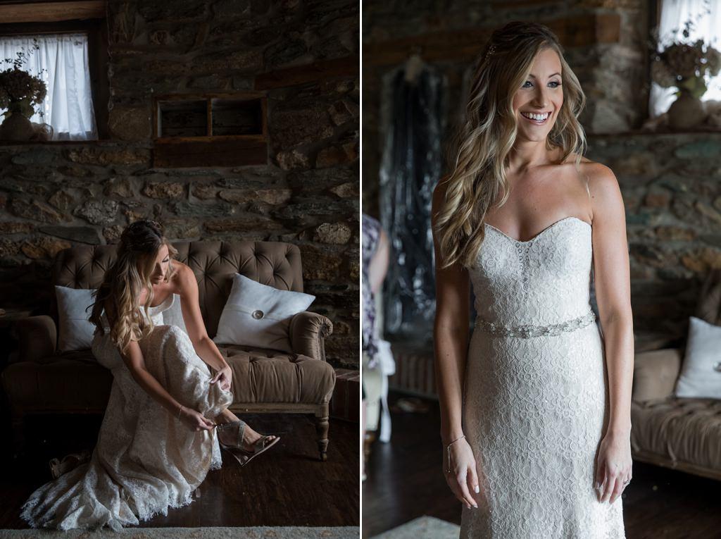 bride getting ready wyndridge farm