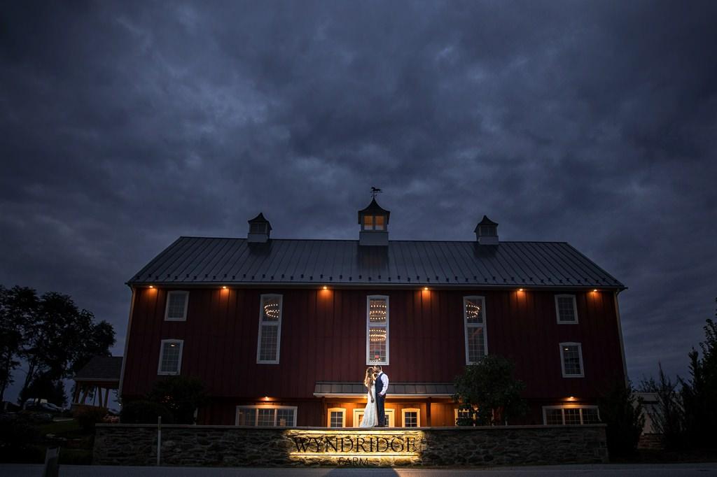 wyndridge farm wedding photo night