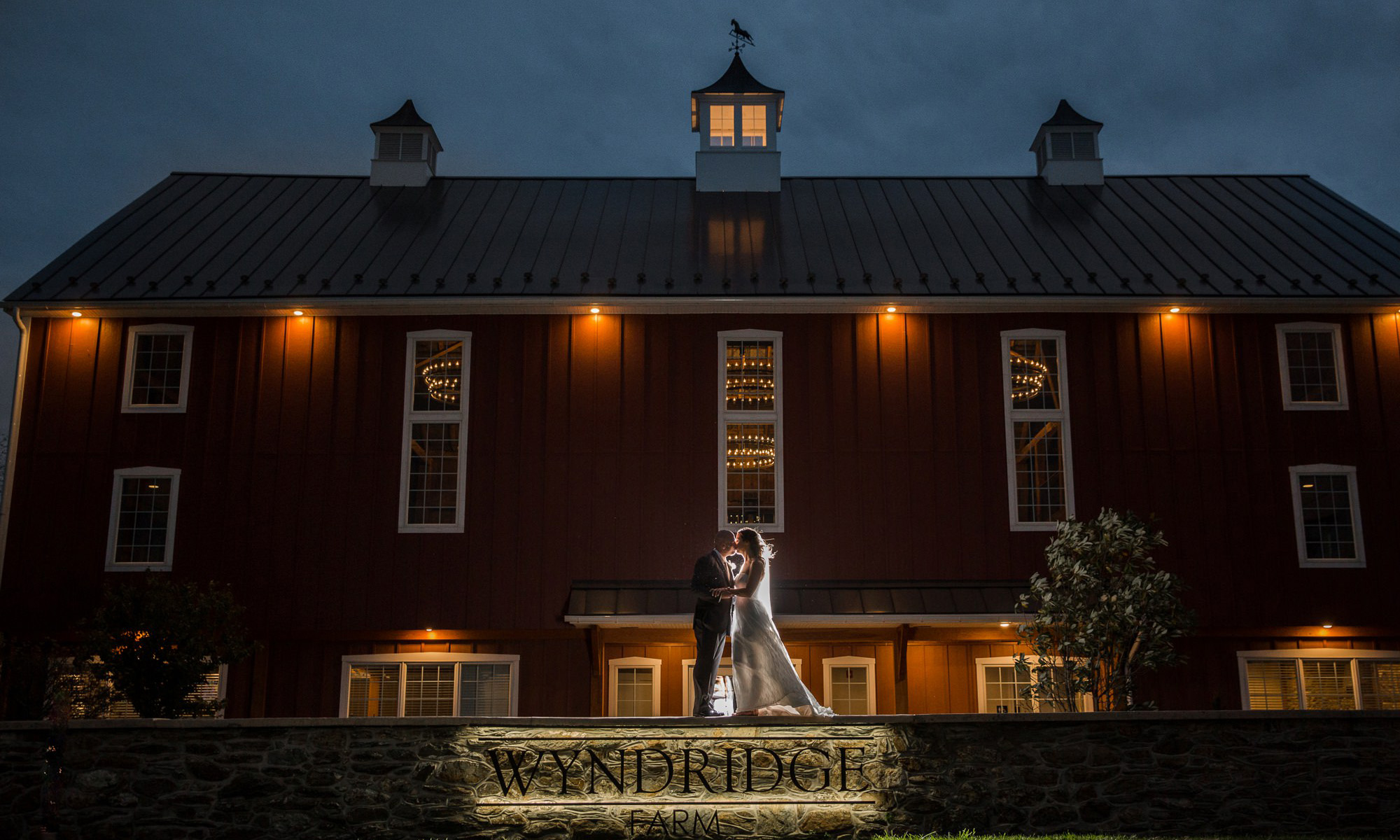york county wedding venue-wyndridge farm night photo