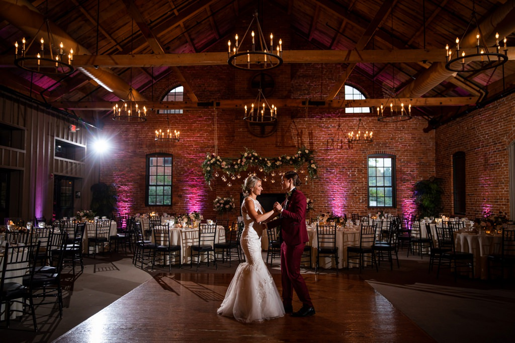 first dance at the cork factory hotel wedding