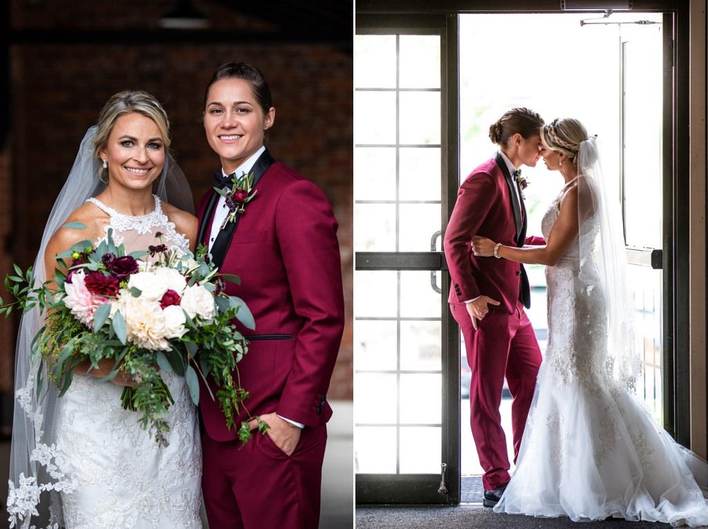 the cork facrory wedding bride and bride