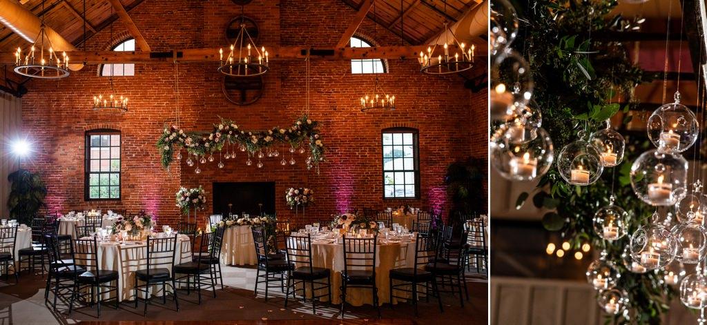 the cork facrory wedding reception details