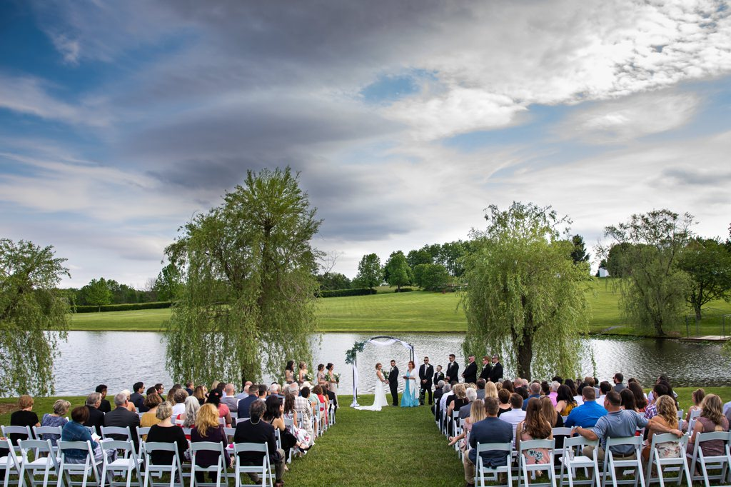 Wedding ceremony photo from Wind in the Willow